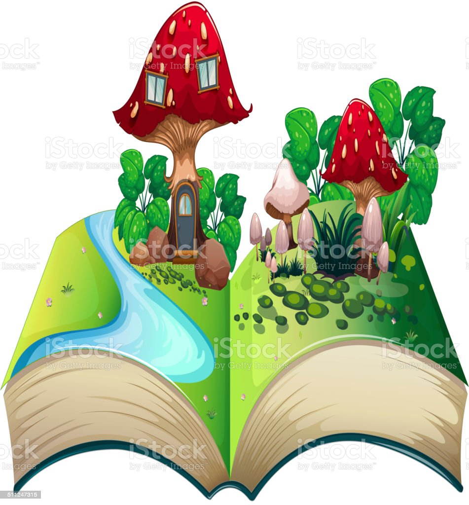 Mushroom popup book