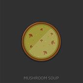 Mushroom soup vector illustration5