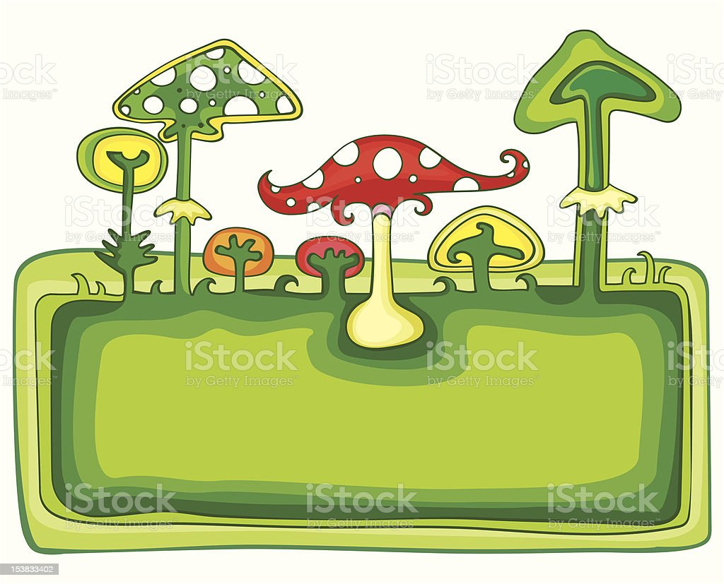 Mushrooms banner royalty-free stock vector art