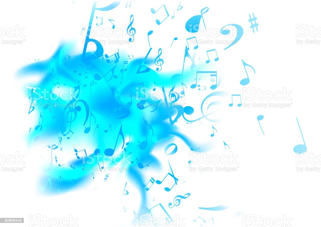 Music abstract background with blue notes royalty-free music abstract background with blue notes stock vector art & more images of abstract