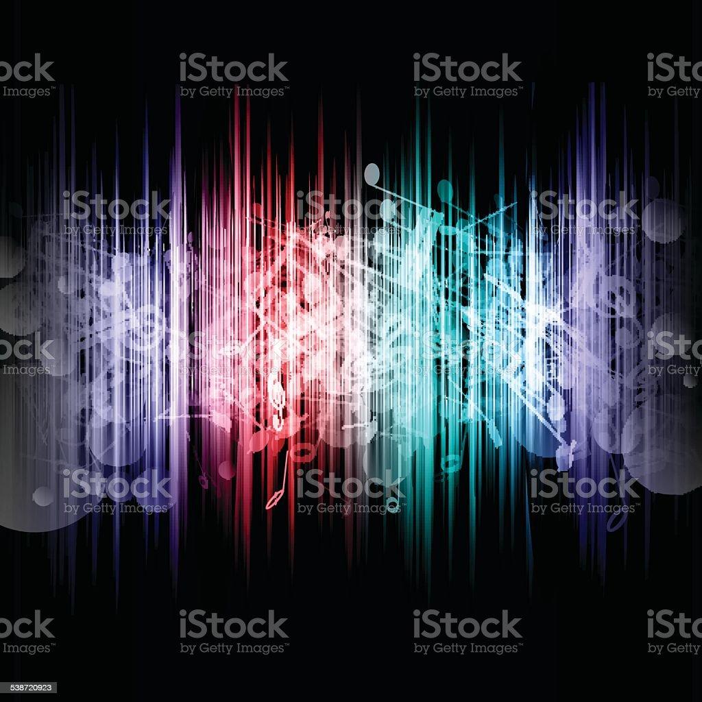 Music abstract vector art illustration