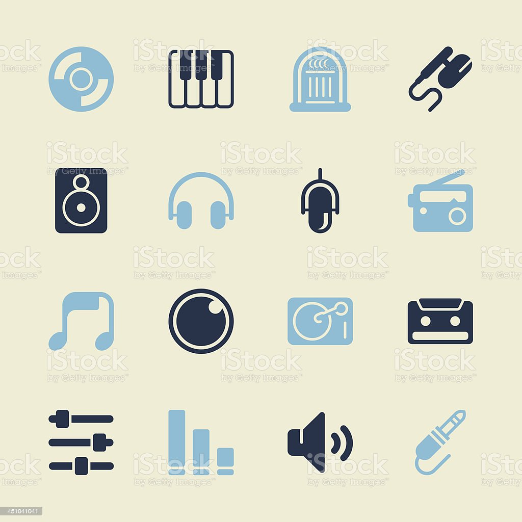 Music and Audio Icons - Color Series | EPS10 royalty-free stock vector art