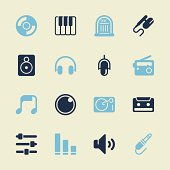 Music and Audio Icons Color Series Vector EPS10 File.