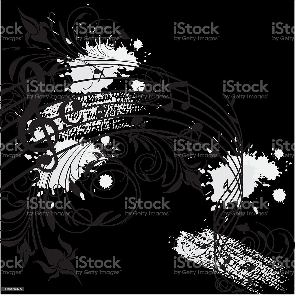 music and nature beautiful grunge banner royalty-free stock vector art