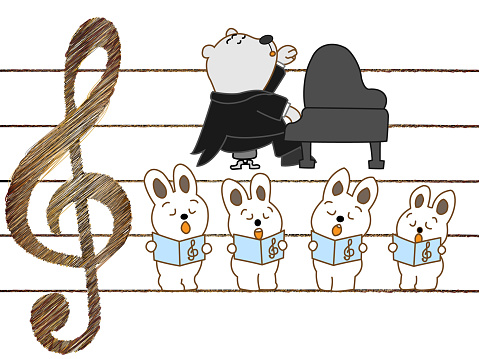Music Animal Stock Illustration - Download Image Now