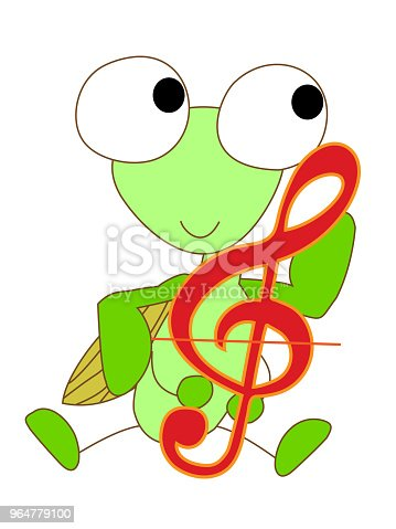 Music Animal Stock Vector Art & More Images of Accordion - Instrument 964779100