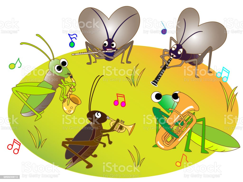 Beroemd Muziek Dieren In De Herfst Stockvectorkunst en meer beelden van &OD33