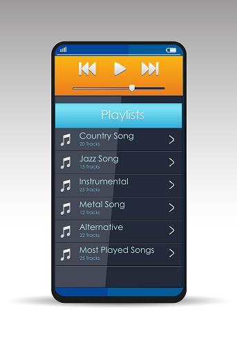 Music App on Smartphone