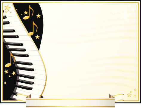 Music Award Certificate for Piano/Keyboard