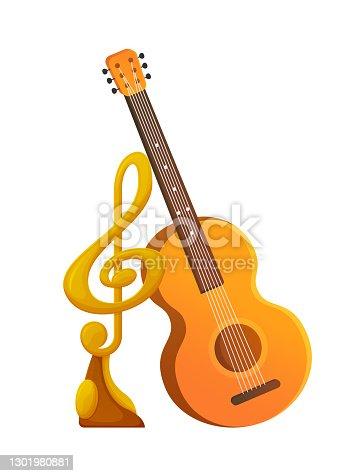 istock Music Award for Singer, Acoustic Guitar Instrument 1301980881