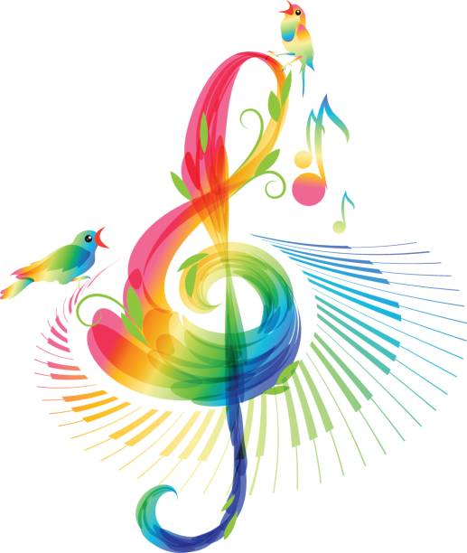 music background on white background - harmonia instrument stock illustrations