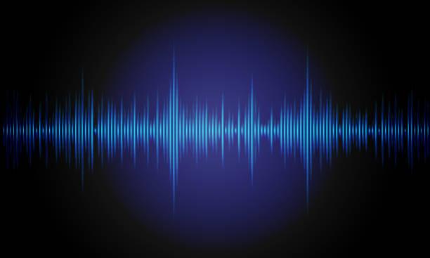 music background sound waves for equalizer. digital waveform design. vector illustration. - sound wave stock illustrations
