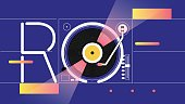Arts Culture and Entertainment, Abstract, Record, Music, Backgrounds, Disco