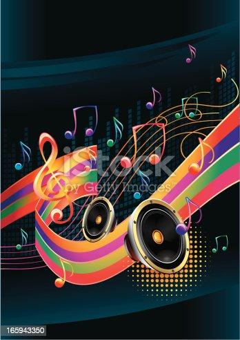 modern music design, layered vector artwork