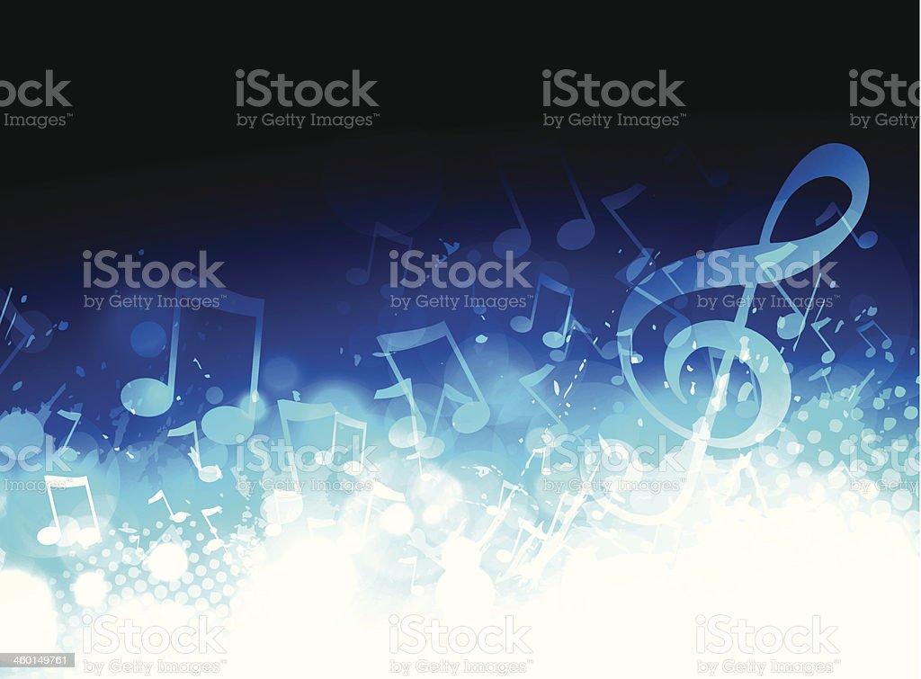Music background vector art illustration