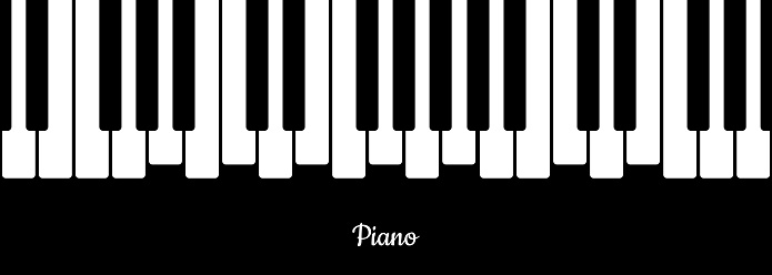 Music background with piano keys illustration. Music concept. Vector on isolated background. EPS 10