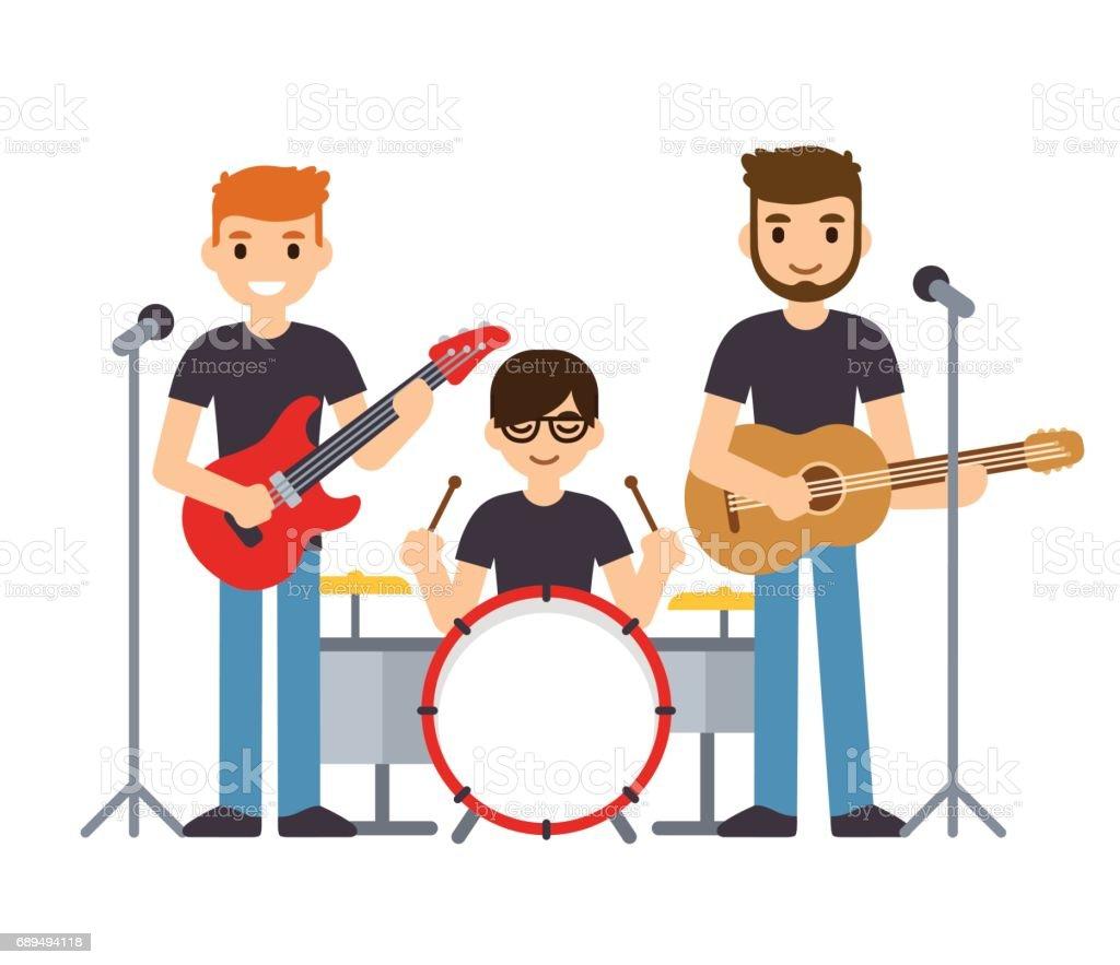 Music band illustration ベクターアートイラスト