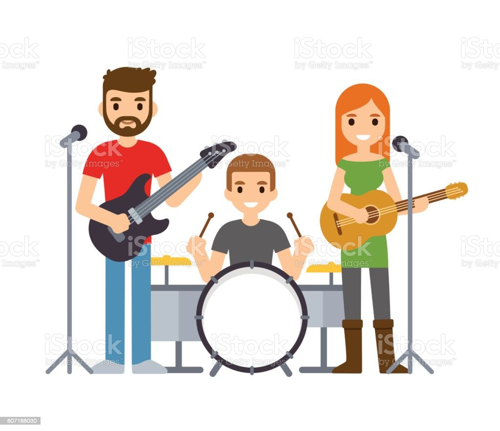 royalty free rock band clip art vector images illustrations istock rh istockphoto com rock band clipart free rock band clip art with rocks