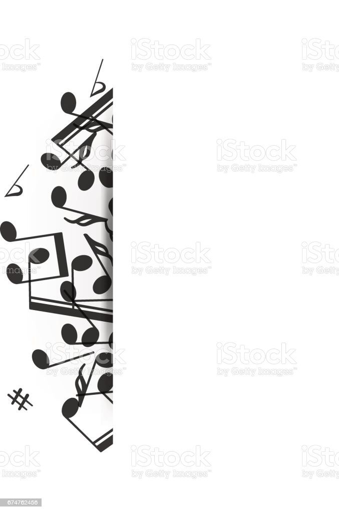 Music Banner With Shadow Stock Illustration - Download ...