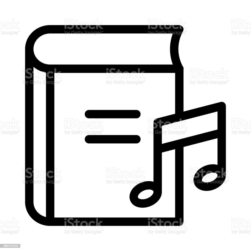music book Thin Line Vector Icon vector art illustration