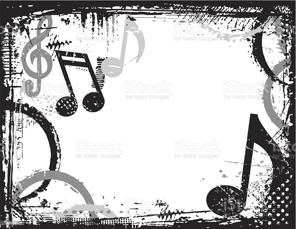 Music Border Grunge Stock Vector Art Amp More Images Of