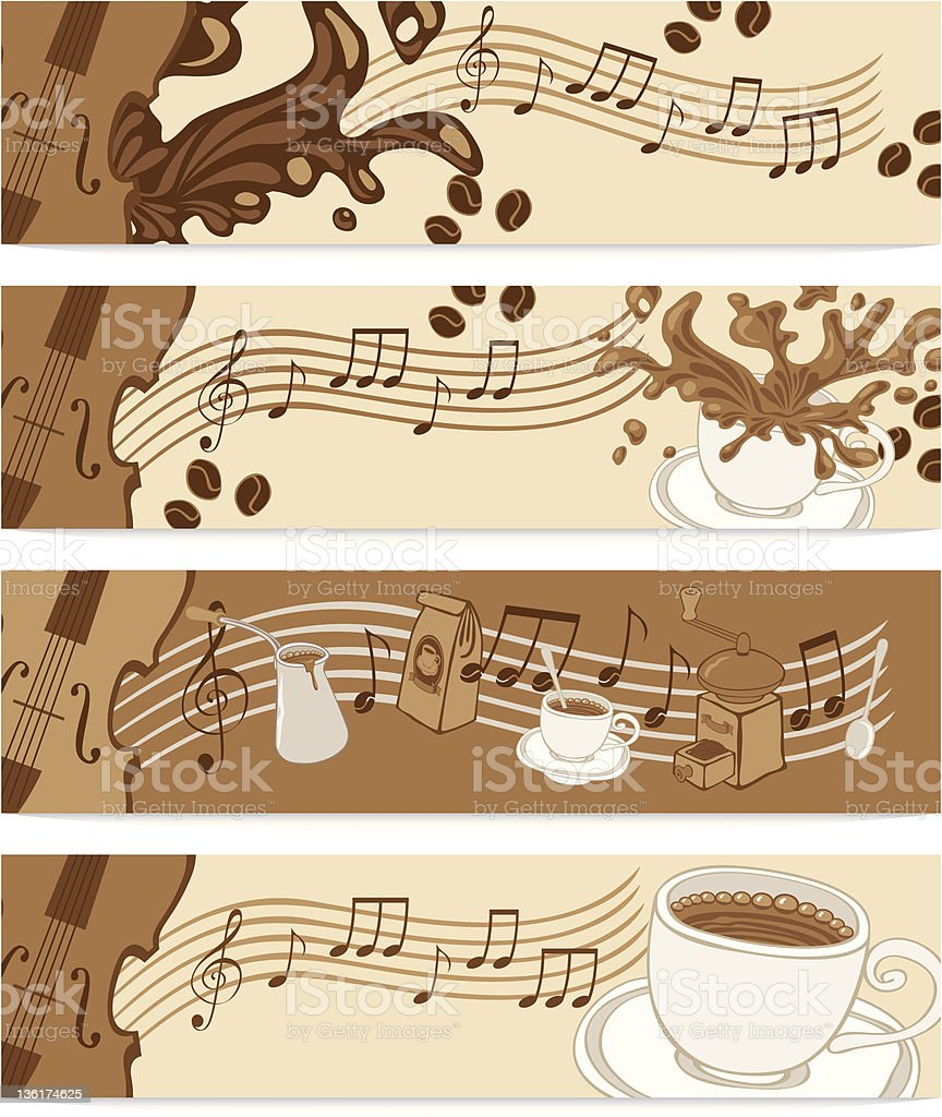 music cafe royalty-free stock vector art
