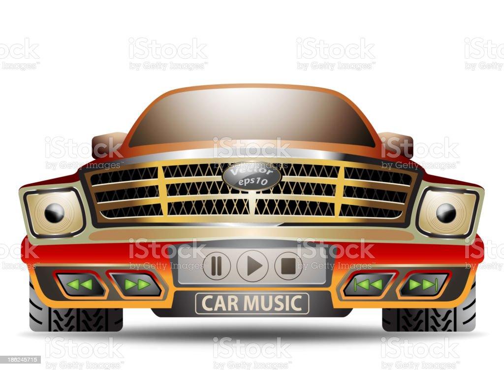 Music car cartoon royalty-free stock vector art
