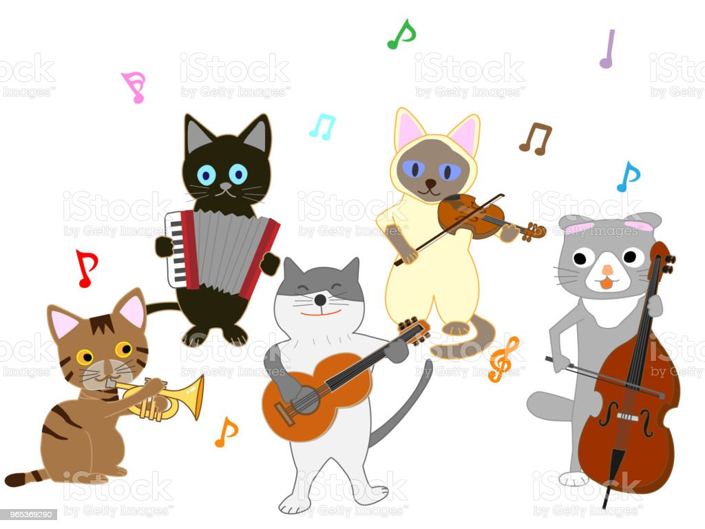 music cat royalty-free music cat stock vector art & more images of animal