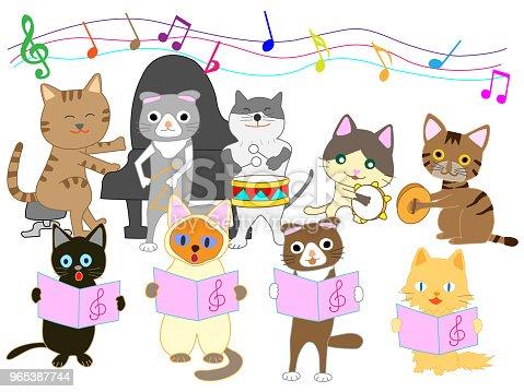 Music Cat - Stockowe grafiki wektorowe i więcej obrazów Budynek przedszkola 965387744