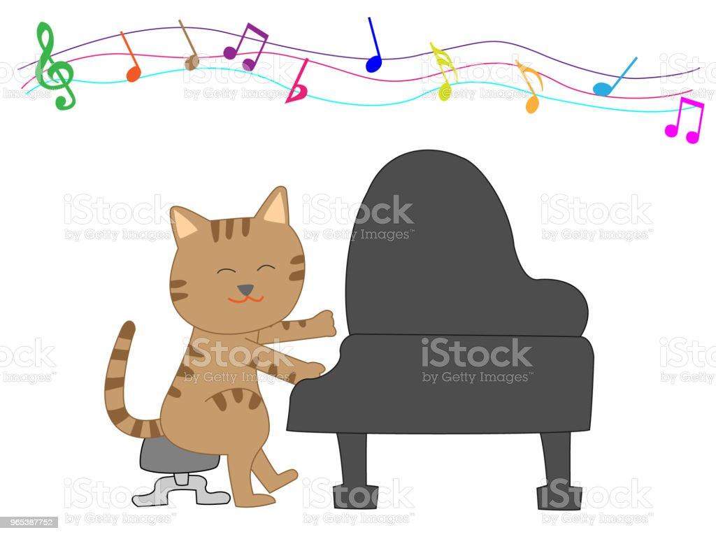 음악 고양이 - 로열티 프리 Classical Concert 벡터 아트