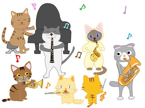 음악 고양이 Classical Concert에 대한 스톡 벡터 아트 및 기타 이미지