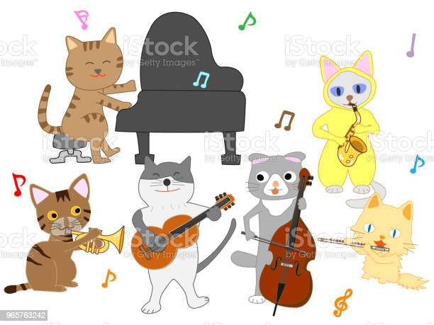 Music Cat Stock Illustration - Download Image Now