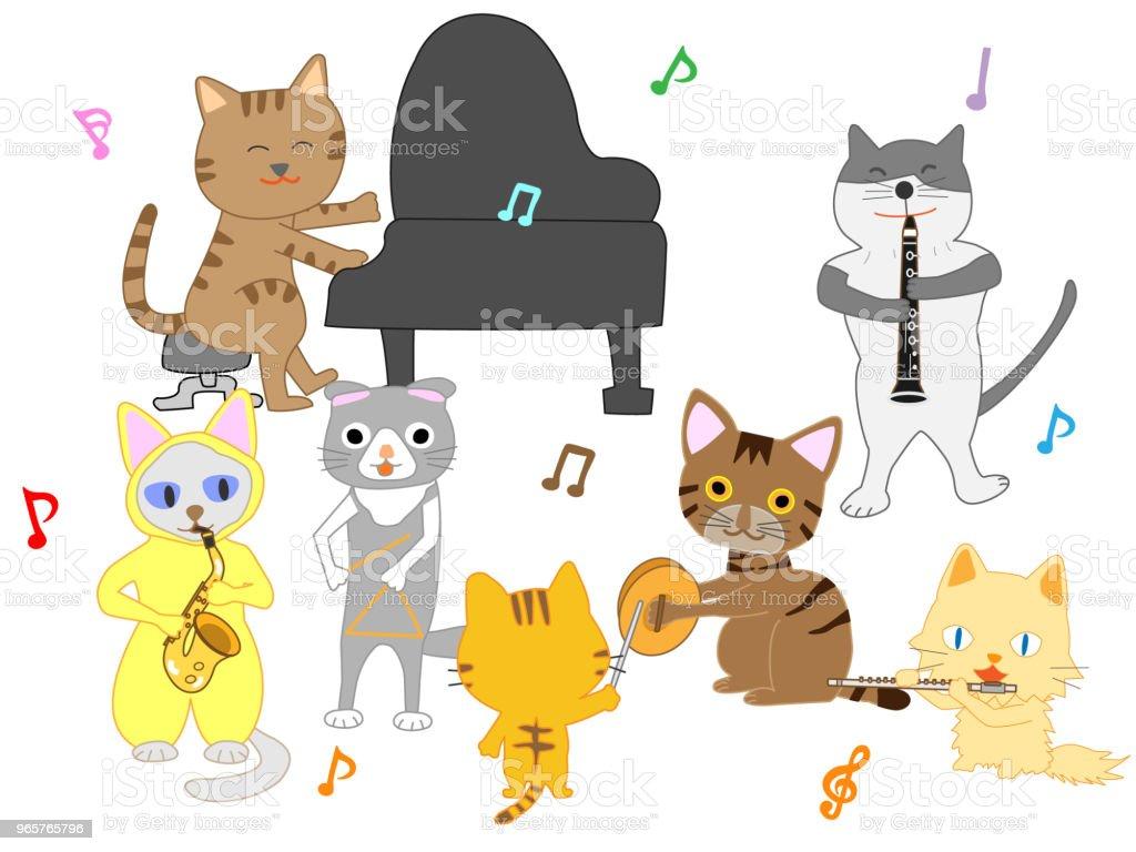 music cat - Royalty-free Animal stock vector