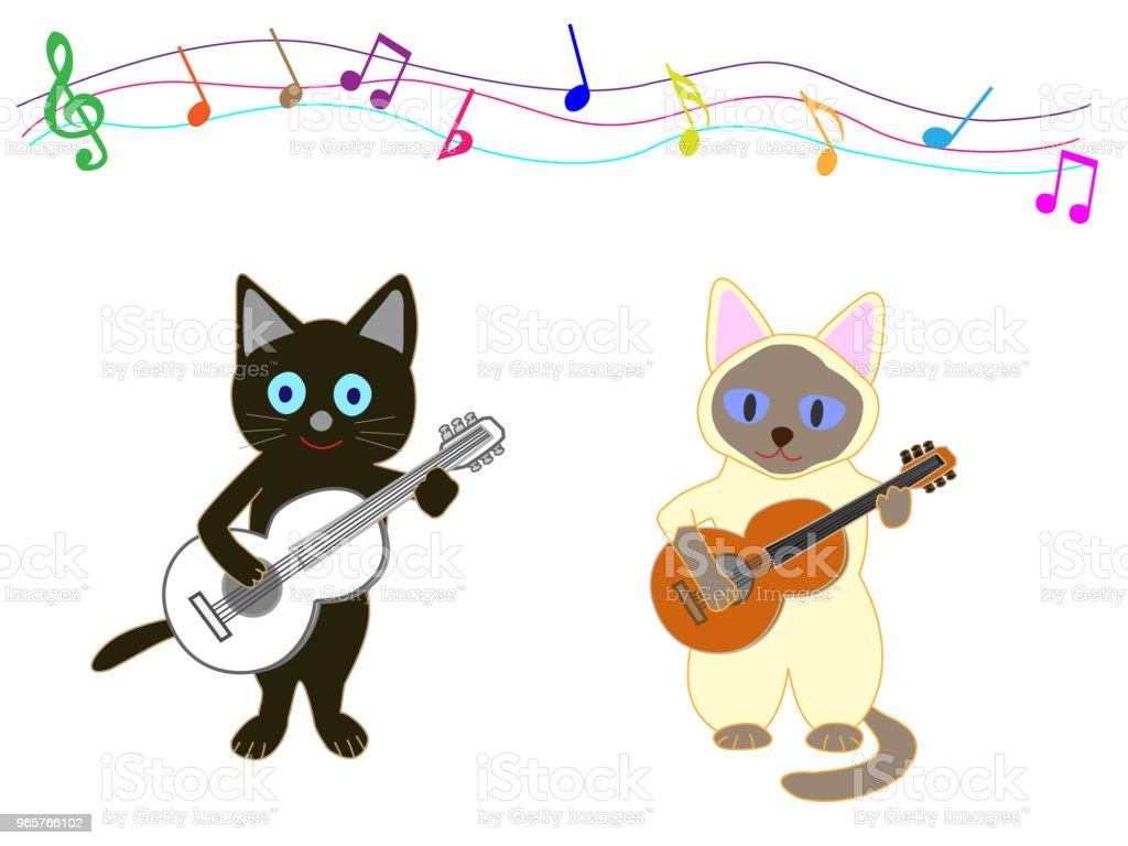 music cat - Royalty-free Animal arte vetorial