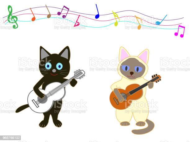 Music Cat - Arte vetorial de stock e mais imagens de Animal