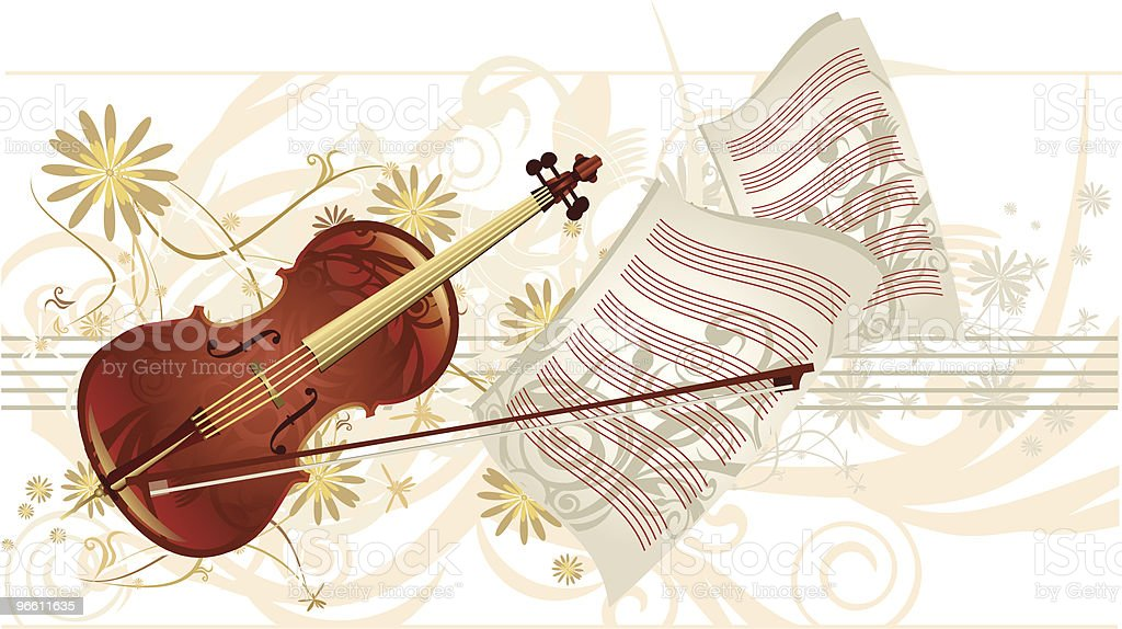 music charm  -  violin royalty-free music charm violin stock vector art & more images of arts culture and entertainment