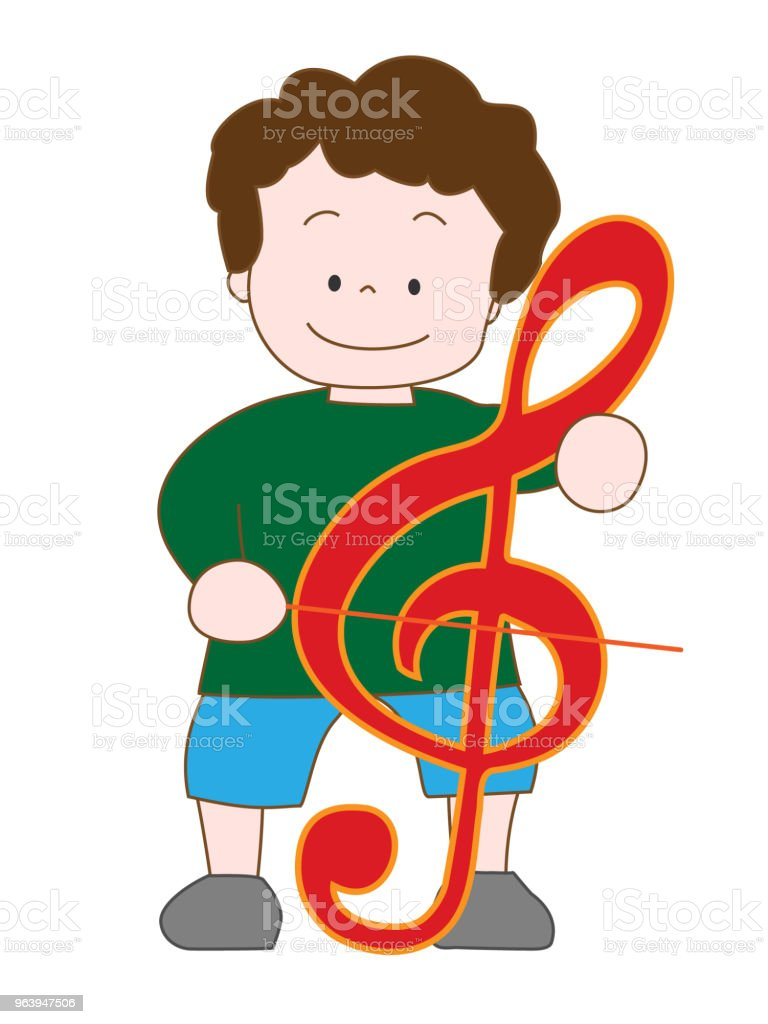 music children - Royalty-free Accordion - Instrument stock vector