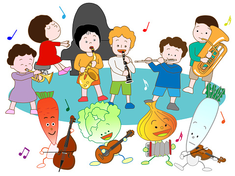 Music Children Stock Illustration - Download Image Now
