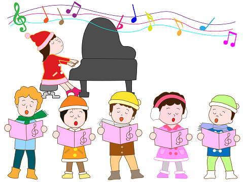 Music Children Stock Vector Art & More Images of Annual Event