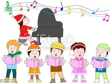 Music Children Stock Vector Art & More Images of Annual Event 964708500