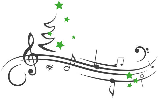 1 334 Christmas Musical Notes Illustrations Clip Art Istock
