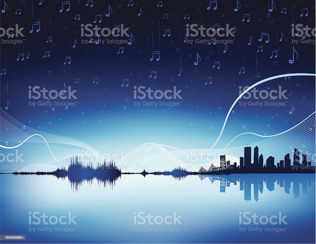 Music city royalty-free stock vector art