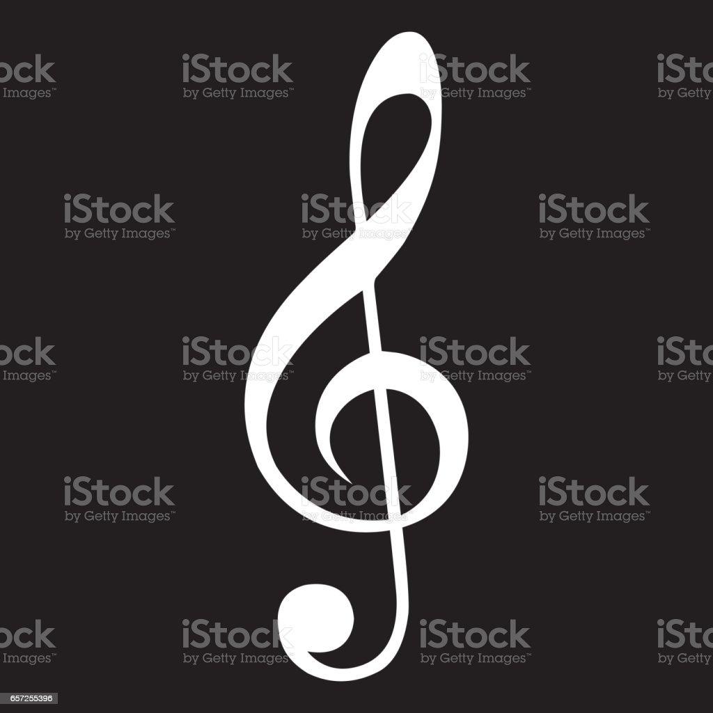 Music Clef Icon vector art illustration