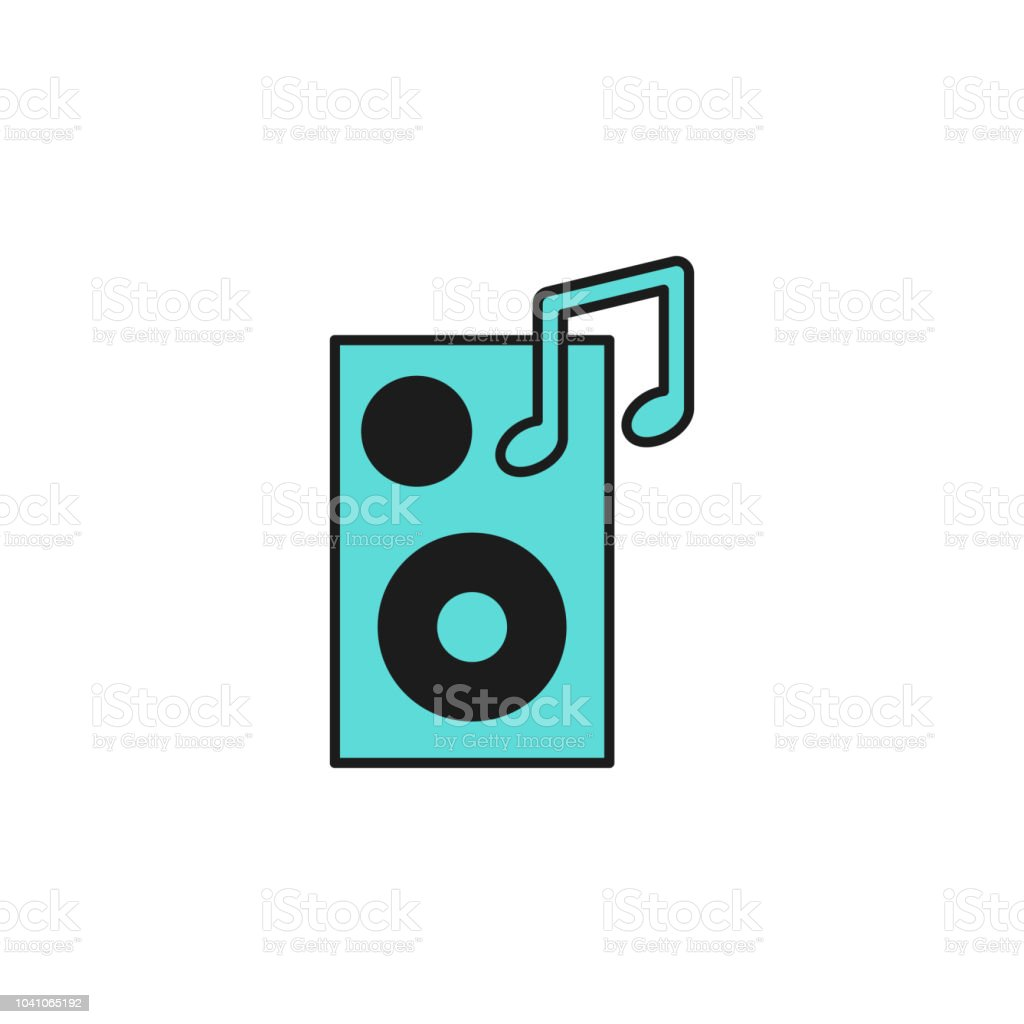Music Column Colored Icon Element Of Birthday Party Icon For