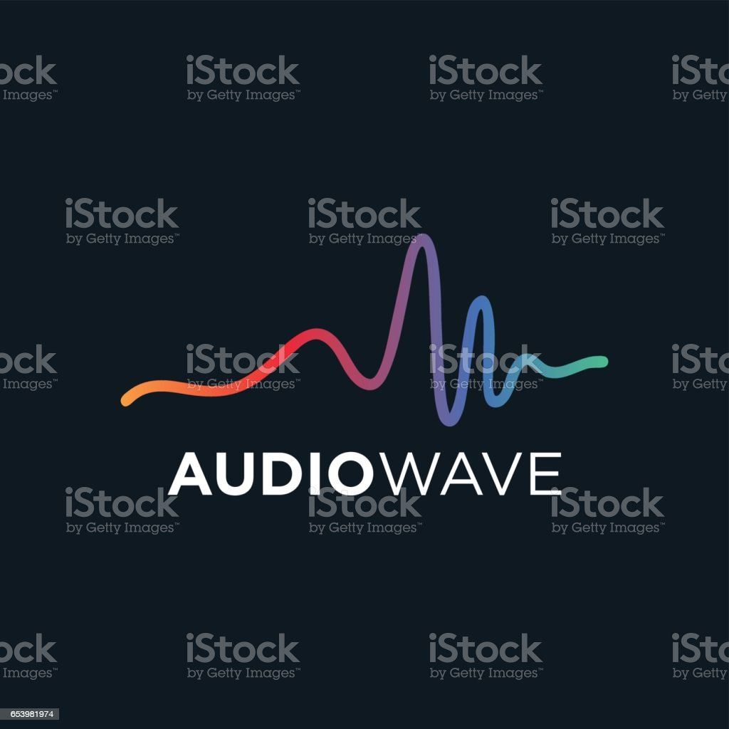 Music concept Audio wave, Audio Technology vector art illustration
