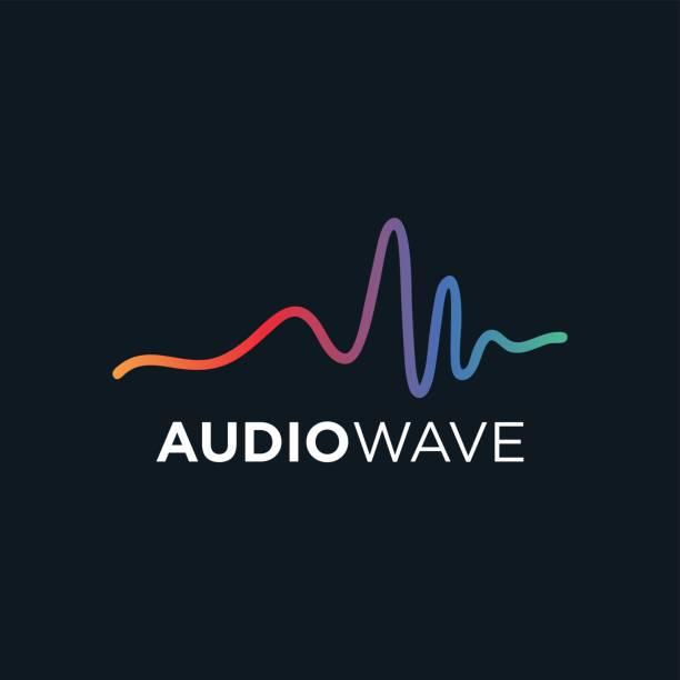 ilustrações, clipart, desenhos animados e ícones de onda de áudio música conceito, tecnologia de áudio - ícones de música