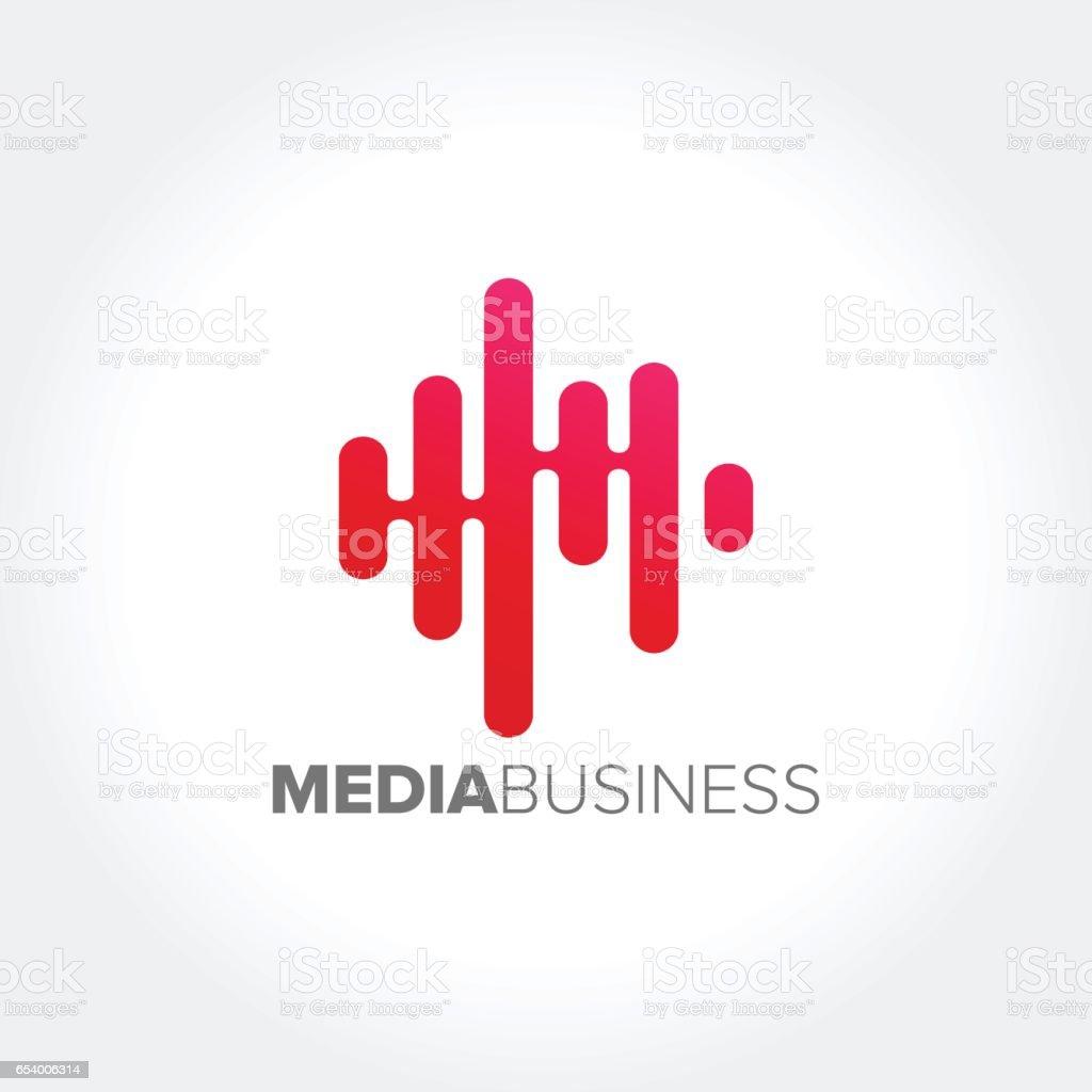 Muziek concept Audio Golf, Audio technologievectorkunst illustratie