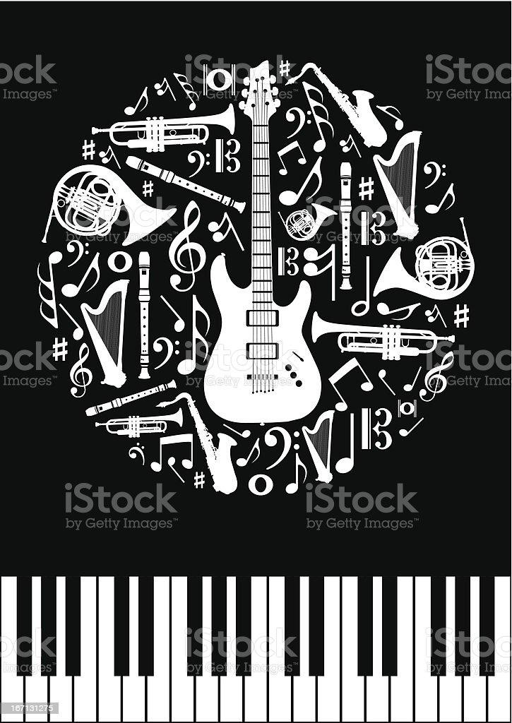 Music concept circle royalty-free stock vector art