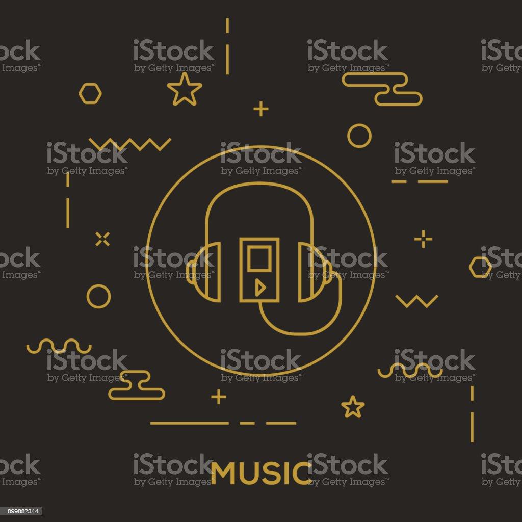 Music Concept vector art illustration