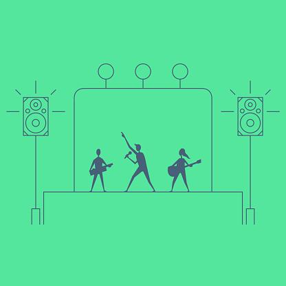 Music Concert Line Art